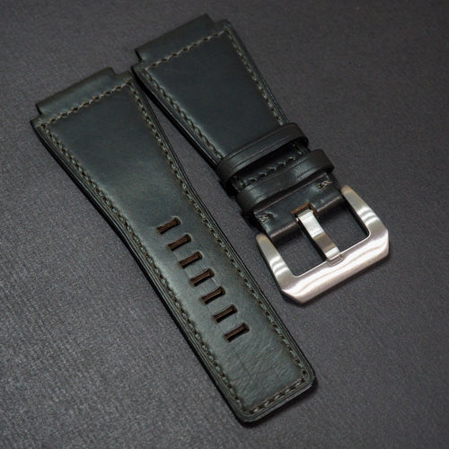Premium Black Calf Leather Watch Strap - Strapconcept_錶帶工房, Rolex_Leather, IWC_Strap, Panerai_Strap, AP_Rubber, Cartier_Leather, Tudor_Nato, Omega_Rubber, Watch_Straps