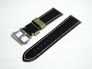 Green Calf Leather Watch Strap w/ Buckle For Panerai - Strapholic_錶帶工房, Rolex, IWC, Panerai, AP, Cartier, Tudor, Omega, Watch_Bands