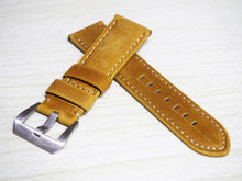 Yellow Calf Leather Watch Strap w/ Buckle For Panerai - Strapholic_錶帶工房, Rolex, IWC, Panerai, AP, Cartier, Tudor, Omega, Watch_Bands