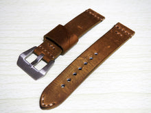 Vintage Style Brown Calf Leather Watch Strap w/ Buckle - Strapholic_錶帶工房, Rolex, IWC, Panerai, AP, Cartier, Tudor, Omega, Watch_Bands