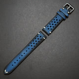 Blue Rally Style Italian Calf Leather Watch Strap - Strapholic_錶帶工房, Rolex, IWC, Panerai, AP, Cartier, Tudor, Omega, Watch_Bands