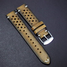 Honey Orange Rally Style Italian Calf Leather Watch Strap - Strapholic_錶帶工房, Rolex, IWC, Panerai, AP, Cartier, Tudor, Omega, Watch_Bands