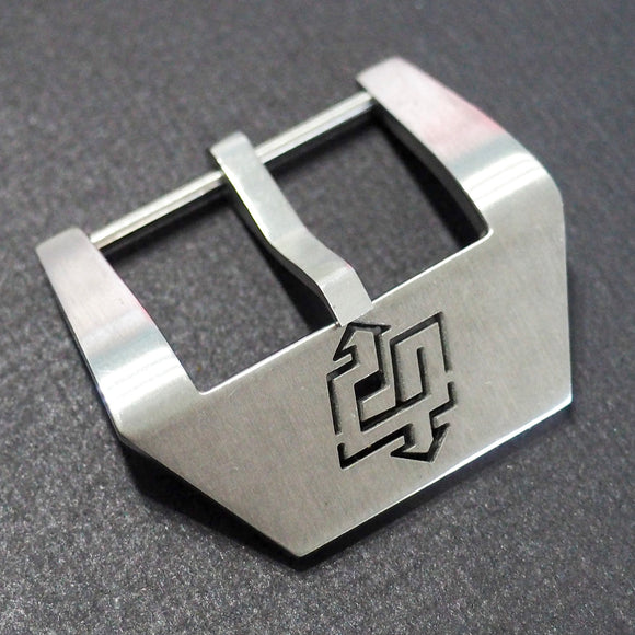 24mm Panerai Style Stainless Steel Tang Buckle Replacement w/ Lightning Carving - Strapholic_錶帶工房, Rolex, IWC, Panerai, AP, Cartier, Tudor, Omega, Watch_Bands