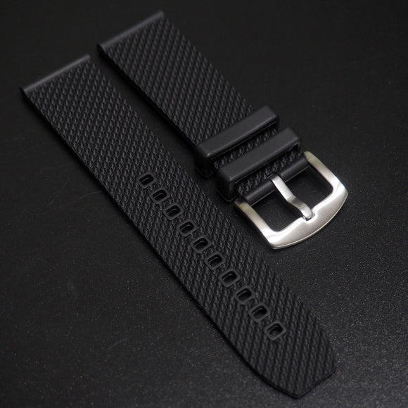 Black Breitling Style Rubber Watch Strap Replacement w/ Buckle - Strapholic_錶帶工房, Rolex, IWC, Panerai, AP, Cartier, Tudor, Omega, Watch_Bands