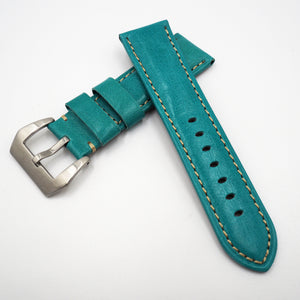 Sky Blue Calf Leather Watch Strap w/ Buckle For Panerai - Strapholic_錶帶工房, Rolex, IWC, Panerai, AP, Cartier, Tudor, Omega, Watch_Bands