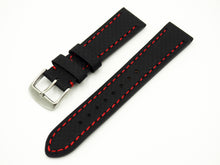 Black with Red Stitching Carbon Fiber Watch Strap w/ Buckle - Strapholic_錶帶工房, Rolex, IWC, Panerai, AP, Cartier, Tudor, Omega, Watch_Bands