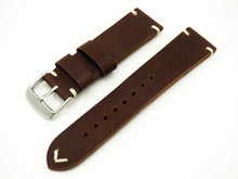 Vintage Style Dark Brown Italian Calf Leather Handmade Watch Strap w/ Buckle - Strapholic_錶帶工房, Rolex, IWC, Panerai, AP, Cartier, Tudor, Omega, Watch_Bands