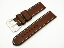Vintage Style Deep Brown Calf Leather Watch Strap w/ Buckle - Strapholic_錶帶工房, Rolex, IWC, Panerai, AP, Cartier, Tudor, Omega, Watch_Bands