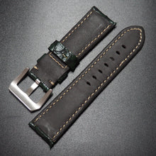 Sacramento Green Fish Leather Watch Strap w/ Buckle For Panerai - Strapholic_錶帶工房, Rolex, IWC, Panerai, AP, Cartier, Tudor, Omega, Watch_Bands
