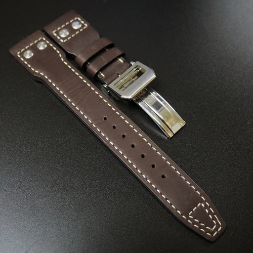 IWC Aviation Style Brown Calf Leather Watch Strap