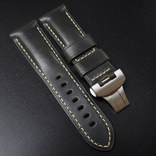 Panerai Style Italy Shadow Gray Calf Leather Watch Strap