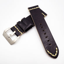 Black Vintage Style Calf Leather Watch Strap w/ Buckle For Panerai - Strapholic_錶帶工房, Rolex, IWC, Panerai, AP, Cartier, Tudor, Omega, Watch_Bands