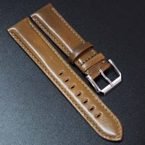 Oijon Orange Calf Leather Watch Strap - Strapholic_錶帶工房, Rolex, IWC, Panerai, AP, Cartier, Tudor, Omega, Watch_Bands