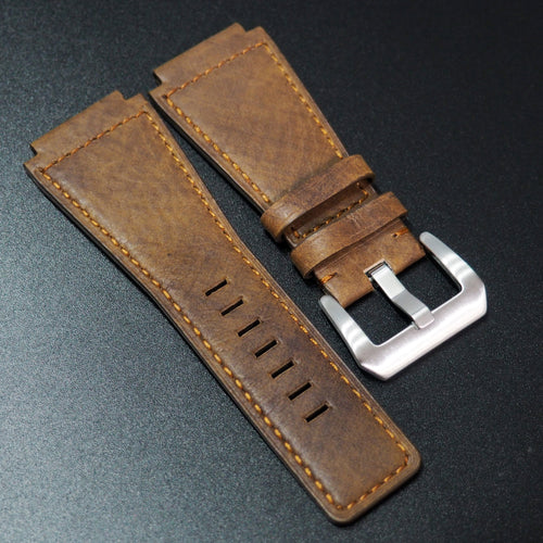 Premium Brown Calf Leather Watch Strap - Strapconcept_錶帶工房, Rolex_Leather, IWC_Strap, Panerai_Strap, AP_Rubber, Cartier_Leather, Tudor_Nato, Omega_Rubber, Watch_Straps