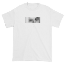 Load image into Gallery viewer, Black and White Woman with Sleepy Eyes Meaningless Ritual White Unisex T-Shirt