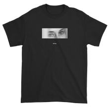 Load image into Gallery viewer, Black and White Woman with Sleepy Eyes Meaningless Ritual Black Unisex T-Shirt
