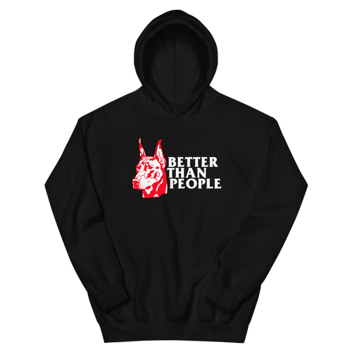 Meaningless Ritual Streetwear Brand Tough Doberman Illustration Better Than People Hoodie