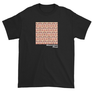 Repeating Squares of Vintage Woman's Eyes Meaningless Ritual Black T-Shirt