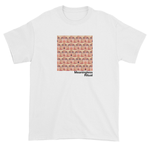 Repeating Squares of Vintage Woman's Eyes Meaningless Ritual White T-Shirt