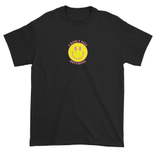 Load image into Gallery viewer, Ironic Smiley Face I Don't Feel Anything 90s T-Shirt Black