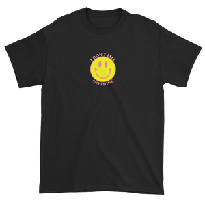 Ironic Smiley Face I Don't Feel Anything 90s T-Shirt Black