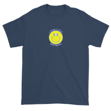 Load image into Gallery viewer, Ironic Smiley Face I Don't Feel Anything 90s T-Shirt Blue