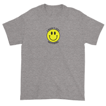 Load image into Gallery viewer, Ironic Smiley Face I Don't Feel Anything 90s T-Shirt Heather Grey