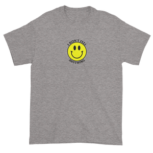 Ironic Smiley Face I Don't Feel Anything 90s T-Shirt Heather Grey