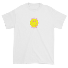 Load image into Gallery viewer, Ironic Smiley Face I Don't Feel Anything 90s T-Shirt White