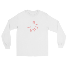 Load image into Gallery viewer, Ritual typography long sleeve t-shirt featuring an imperfect circle text logo