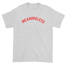 Load image into Gallery viewer, Minimal College Style Meaningless Text Arch T-Shirt Heather Ash