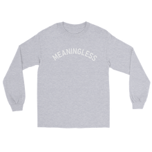 Load image into Gallery viewer, Arched University Style Typography Nihilism Meaningless Shirt