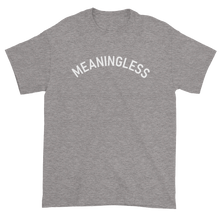 Load image into Gallery viewer, Minimal College Style Meaningless Text Arch T-Shirt Heather Grey