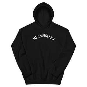 Arched Typography Meaningless Ritual 90s inspired Hoodie