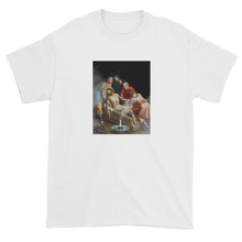 Load image into Gallery viewer, Jesus Bong Marijuana Overdose Parody Satirical Collage T-Shirt White