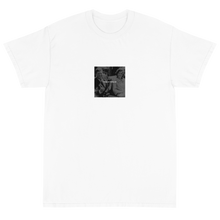 Load image into Gallery viewer, Dark humor streetwear design featuring White text of Things are looking up! over a black and white photo pre-assassination