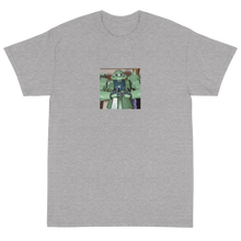 Load image into Gallery viewer, Meaningless Ritual Funny Ironic Streetwear Apparel with Mecha Anime Action Figure with Blood Fingers T-Shirt