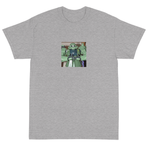 Meaningless Ritual Funny Ironic Streetwear Apparel with Mecha Anime Action Figure with Blood Fingers T-Shirt