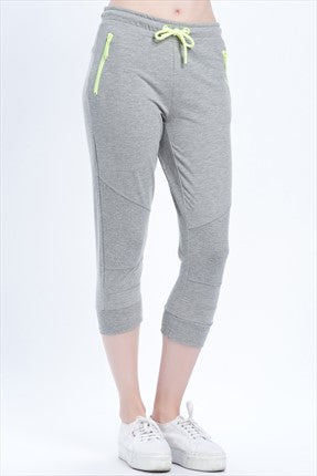 Capri-PLAY ASLI ZIP SWEAT KNICKERS light grey melange