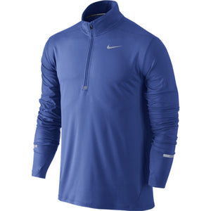 NIKE DRI-FIT ELEMENT HALF ZIP GAME ROYAL
