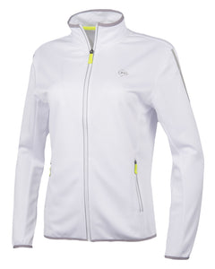 WOMENS KNITTED JACKET CLUB WHITE