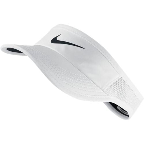 Women's NikeCourt AeroBill Featherlight Tennis Visor WHITE/B