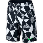 Boys' Nike Flex Ace Tennis Short WHITE/BLACK/ELECTRO GREEN