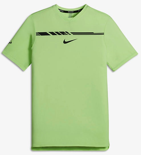 YA RAFA CHLLGR TOP SS PRM YTH GHOST GREEN/BLACK