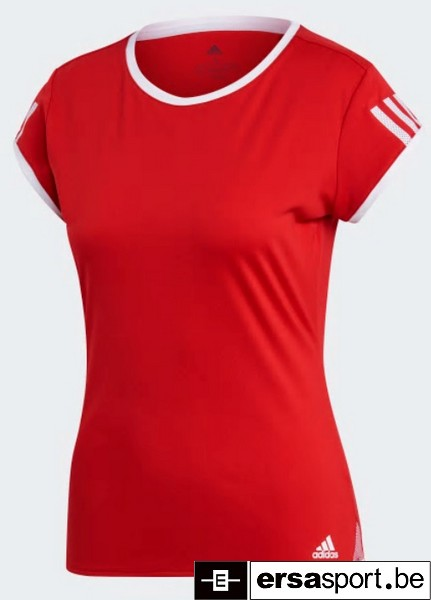 CLUB 3 STRIPE TEE SCARLET