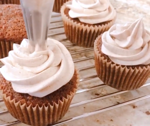 Apple Cider and Maple Cupcakes
