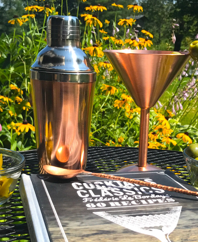 Copper Martini Glass