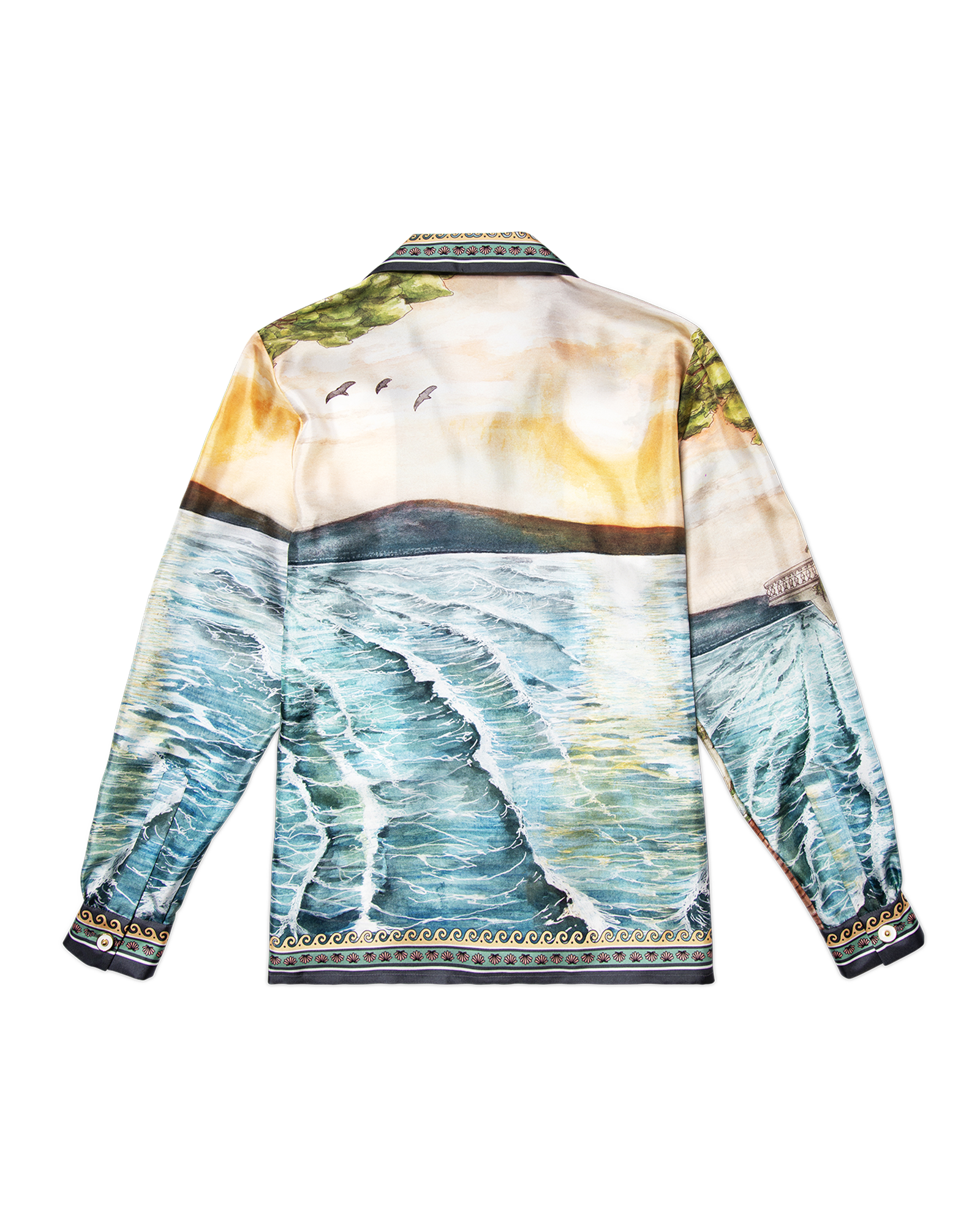 Sound of the Waves Silk Shirt