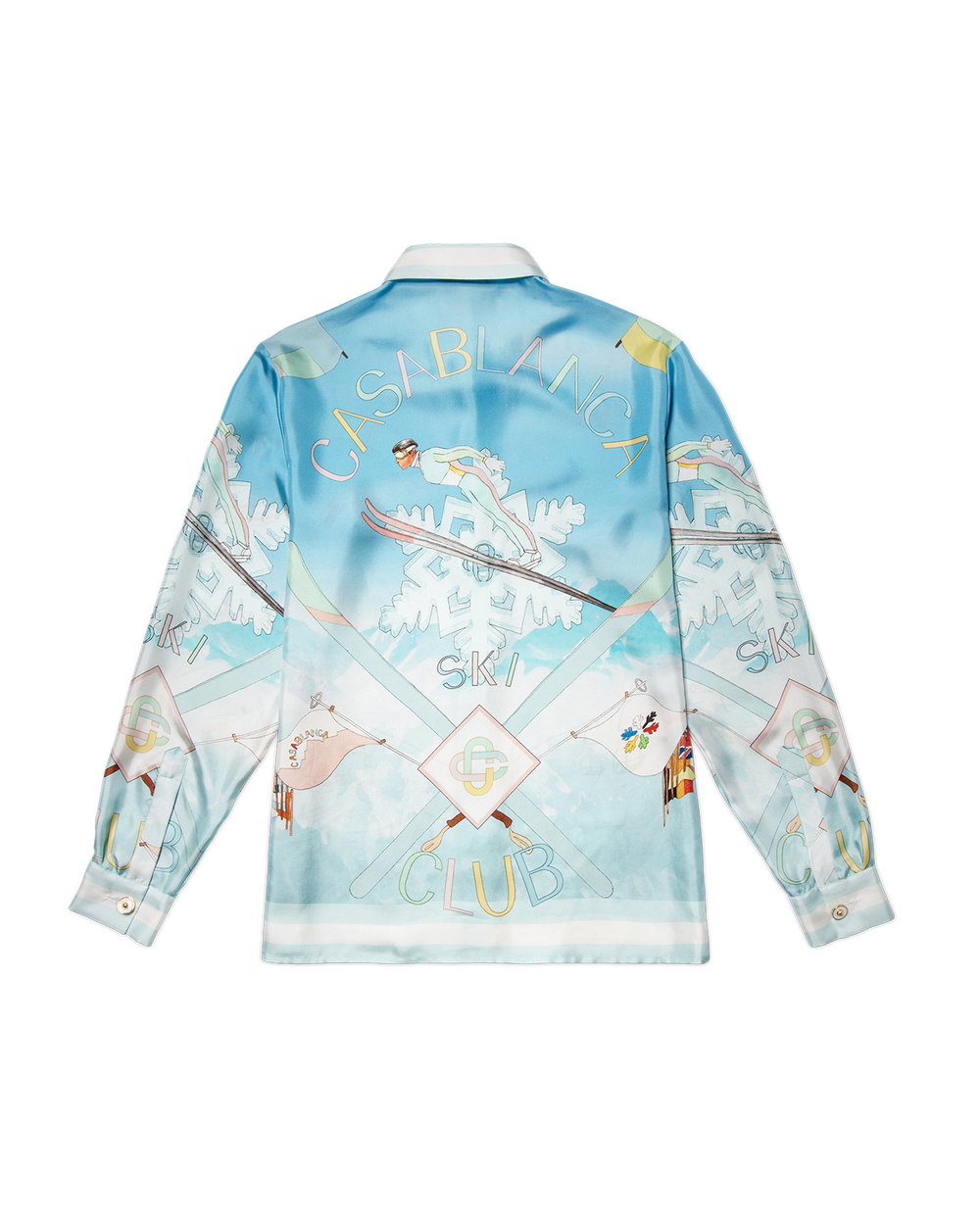 Casablanca Ski Club Silk Shirt