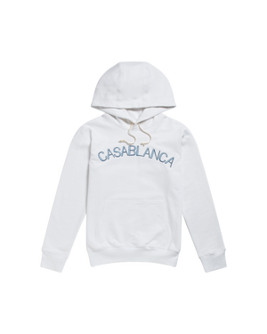 White Casablanca Arches Hooded Sweatshirt